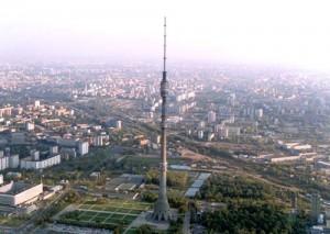 Вид с телебашни Останкино в Москве