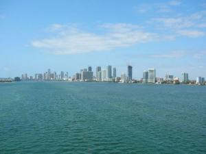 Панорама залива Бискейн в Майами во Флориде