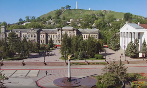 Гора Митридат в Керчи в реальном времени