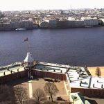Вид с Петропавловской крепости в Санкт-Петербурге