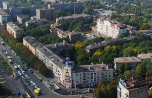 Проспект Ленина в Мариуполе на Украине