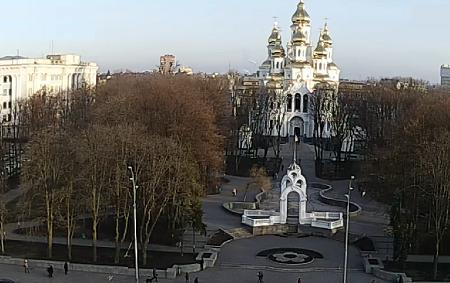 Памятник Зеркальная струя в Харькове на Украине