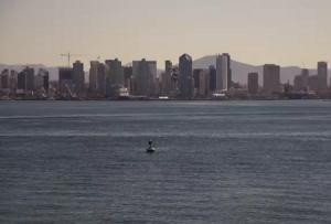 Панорама Сан-Диего в штате Калифорния