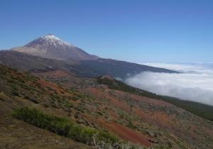 Вид на северо-запад с горы Тейде на острове Тенерифе