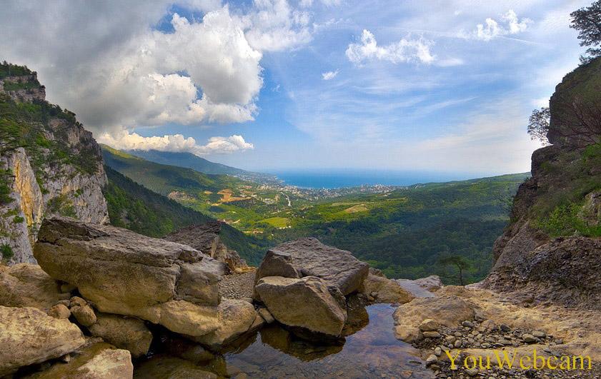 Вид на Ялту с водопада Учан Су
