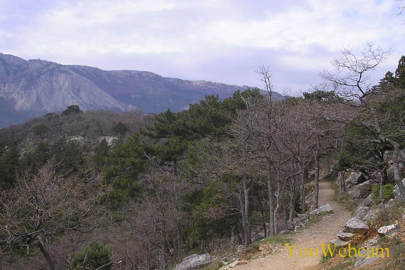 Пейзажи Южного Крыма. Вид горы с Царской тропы