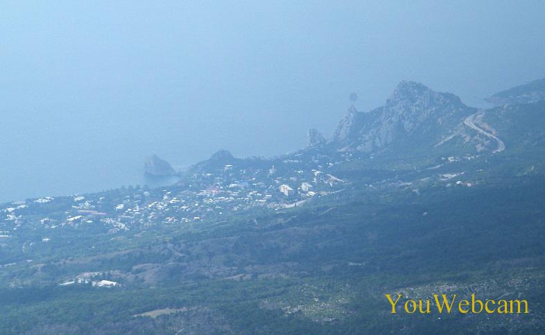 Гора Кошки и Дива вид с Ай-Петри