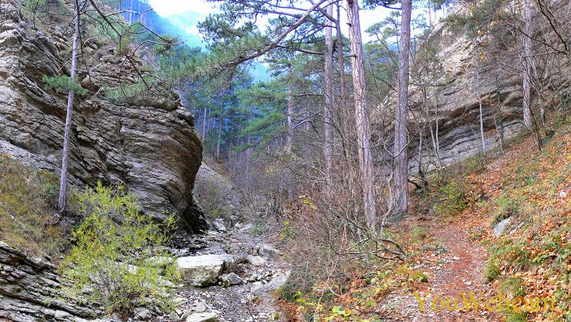 Природа возле водопада Учан-Су