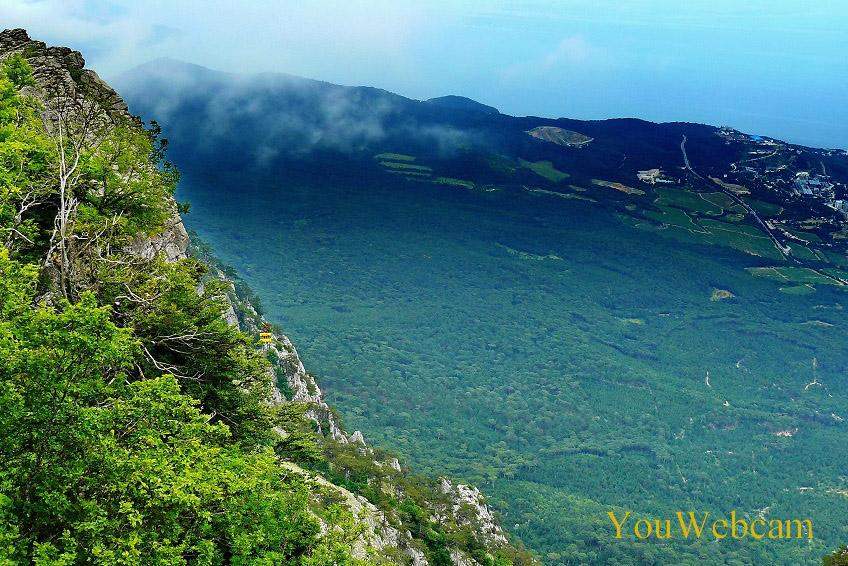 Вид на Крым с водопада Учан-Су