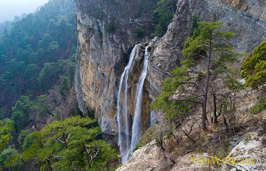 Водопад Учан-Су с верху