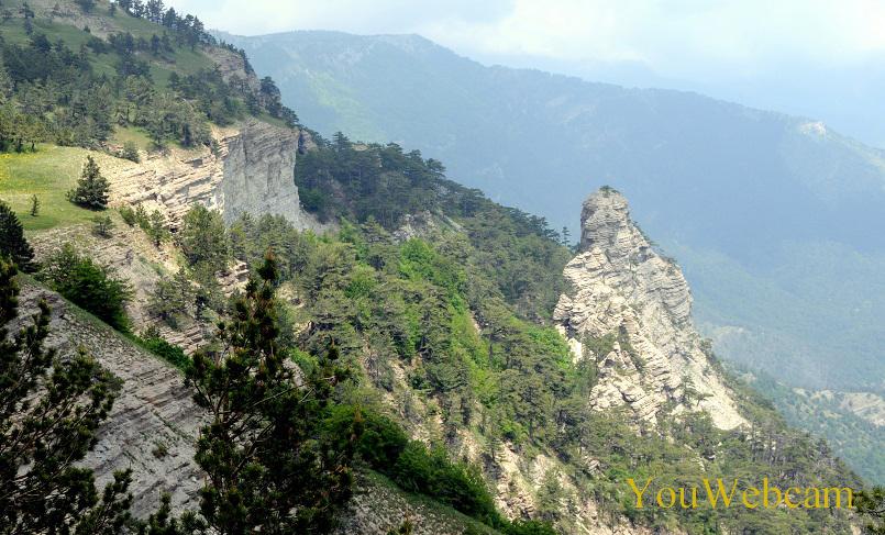 Скалы горы Яй-Петри. Отдых в Ялтеа Крым