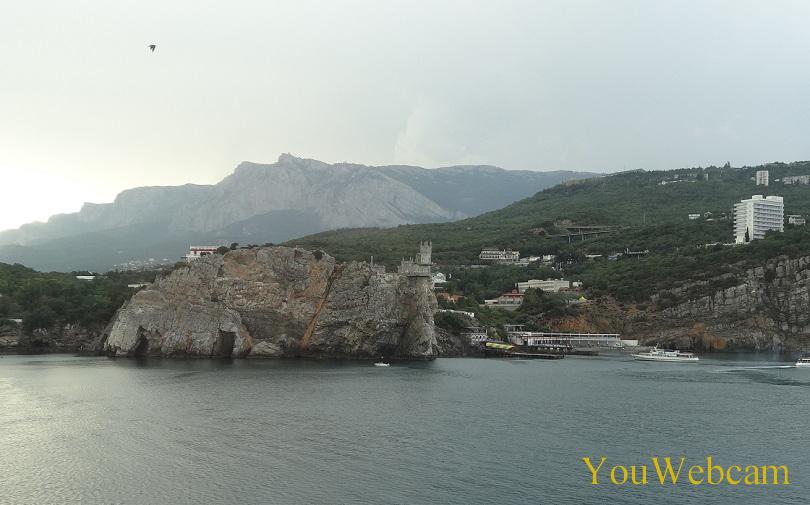 Вид с моря на Гаспру