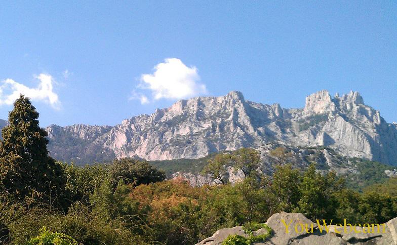 Гора Ай-Петри около Ялты. Отдых в Крыму