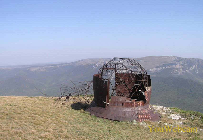 Антена на горе Ай-Петри. Горный отдых в Крыму
