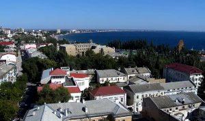 Обзорная веб камера показывает панораму Феодосии