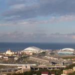 Олимпийский парк в Имеритинской бухте в Сочи