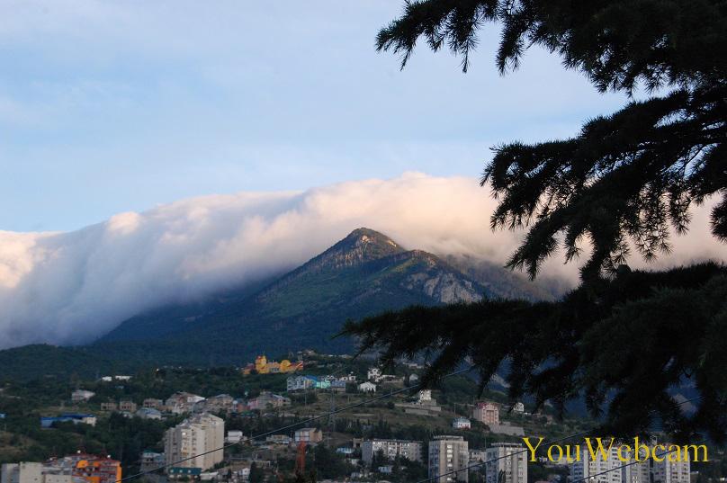 Облако и горы. Крым Ялта