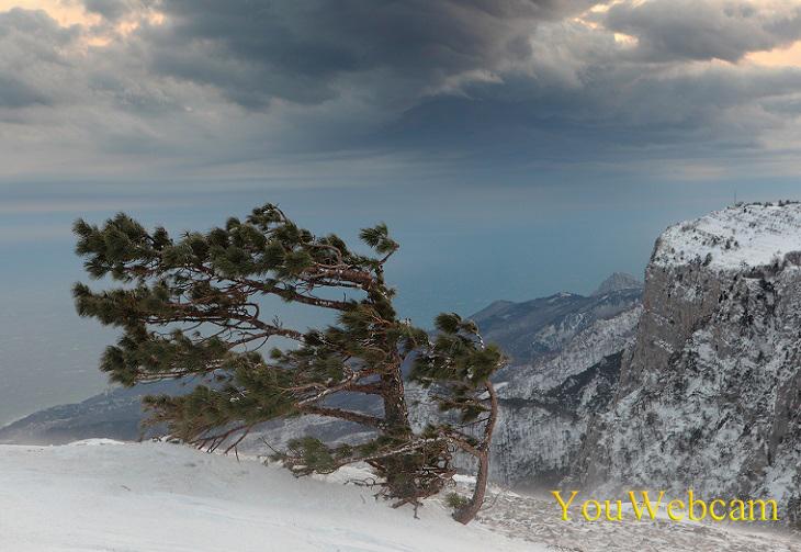 Отдых в Крыму зимой. Вид с Ай-Петри