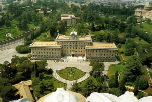 Веб камера показывает Дворец правительства Ватикана из Собора Святого Петра