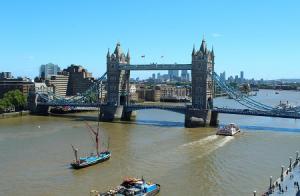 Тауэрский мост в Лондоне в Великобритании