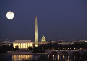 Национальная аллея в Вашингтоне в США