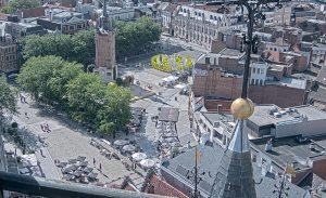 Главная площадь города Кортрейк в Бельгии