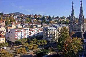Панорама города Баден-Баден в Германии