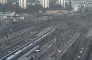 Веб камера с видом на вокзал Штутгарта в Германии