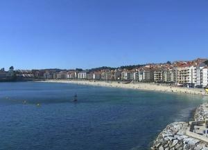 Обзор города Санхенхо в Галисии в Испании