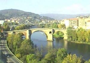Мосты через реку Миньо в Оренсе в Испании