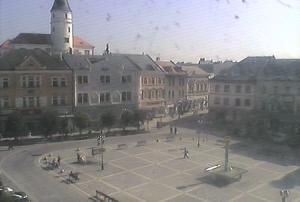 Главная площадь города Пршеров в Чехии