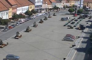 Карлова площадь в городе Тршебич в Чехии