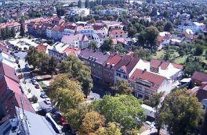 Центр города Лиса-над-Лабем в Чехии