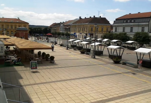 Площадь Короля Томислава в городе Дарувар в Хорватии
