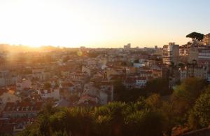 Панорама Лиссабона в Португалии