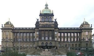 Вацлавская площадь в Праге в Чехии
