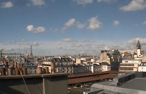 Панорама Парижа во Франции из квартала Сен-Жермен