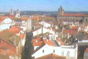 Панорама города Визеу в Португалии