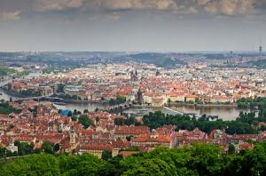 Панорама Праги в Чехии