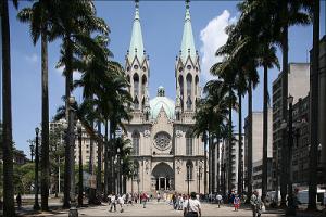 Соборная площадь Сан-Паулу, веб камера в Бразилии