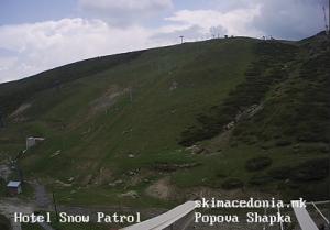 Курорт Попова Шапка в Македонии, склоны гор