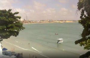 Пляж Понта-Негра в городе Натал в Бразилии
