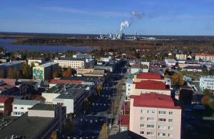 Панорама города Кеми в Финляндии