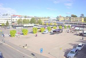Главная площадь Порвоо в Финляндии