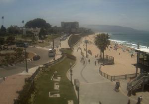Пляж Редондо-Бич в округе Лос-Анджелес в штате Калифорния