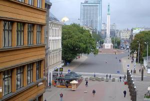 Памятник Свободы в Риге в Латвии