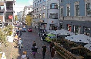 Улица Аудею в Риге в Латвии