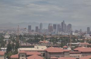 Панорама Лос-Анджелеса в Калифорнии