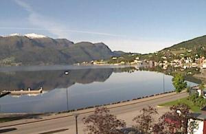 Панорама города Сандане в Норвегии