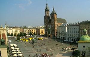 Главная площадь Кракова в Польше